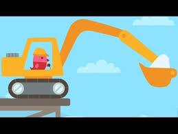 Digger Cartoons For Toddlers Excavator For Children Backhoe
