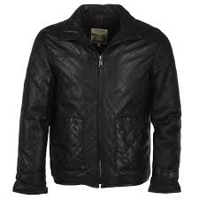 diamond quilted leather jacket black gable