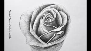 drawing flowers how to draw a rose with pencil fine art tips