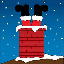santa claus chimney clipart. Free Santa Clip Art Image Claus Stuck In Chimney Upside Down With Feet Clipart
