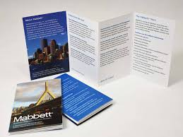 Mini Brochure Design Mabbett Mini Brochure Shawmut Communications Group