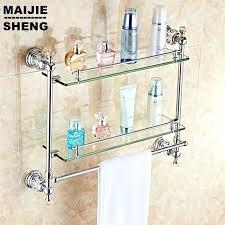 glass shelf for bathroom glass shelves for bathroom chrome crystal shower shelf bath corner glass shelf bathroom ikea