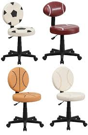desk chair baseball desk chair sportmless free comfortable chairman black stained soccer basketball and