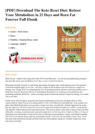 Mark sisson and lindsay taylor издательство: Ebook The Keto Reset Diet Reboot Your Metabolism In 21 Days And Burn Fat Forever Page 1 Created With Publitas Com