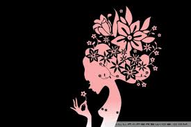 the flower girl black ultra hd desktop