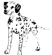 Fire Dog Coloring Pages Cute Printable Dalmatian Colouring Adult