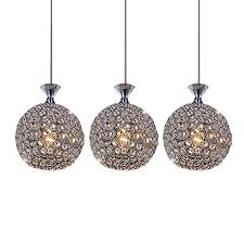 dinggu contempoary 3 lights crystal chandelier lighting for dining room with crystal ball lamp shade