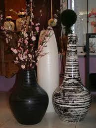 white and black vases for modern interior decorating