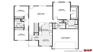 plans simple residential with open small one ranch floor style garage house impressive concept home without