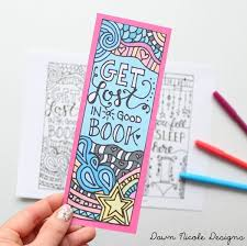 Small Picture Free Printable Coloring Page Bookmarks Dawn Nicole Designs