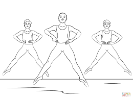 boy ballet coloring pages colorine net 23950