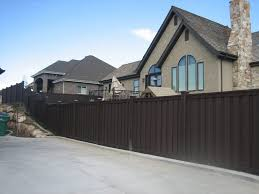brown vinyl fence panels. Brown Vinyl Fence Panels Pricing Lowes Picket Dark That Is Better Alternative Than