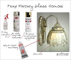 mercury glass lighting fixtures. how to paint a light fixture look like mercury glass using spray and lighting fixtures