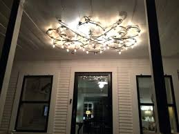 chandeliers farmhouse front porch with new iron light fixture with lights porch chandelier lighting