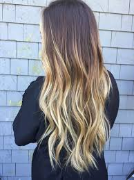 Hairstyles Ombre Hair Brown To Blonde Medium Length Straight The