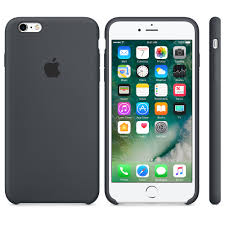 apple iphone 6 black. iphone 6 / 6s silicone case - charcoal gray apple iphone black p