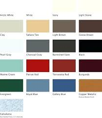 Steel Roof Color Chart Colors Metal Roof Gueadi Info