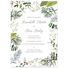 Sample Of Weeding Invitation Spring Botanics Wedding Invite Sample