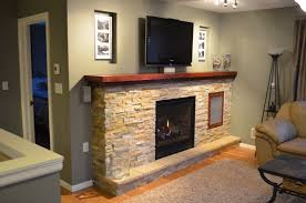 Custom Made Fireplace Design With Media Center