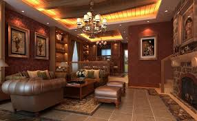 american home interiors. Classic American Home Interior Wooden Decoration Art Rendering Dining Room Interiors A