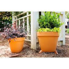 terra cotta clay pot planter feet set