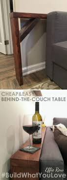 easy diy behind the couch table