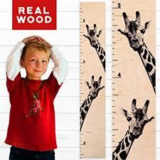 Giraffe Chart Growth Chart Art Giraffe Growth Chart Wooden Height Chart For Kids Boys Girls Two Giraffes