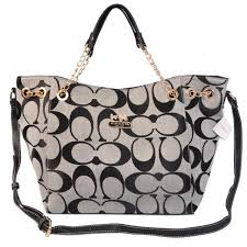 Discount Coach Chelsea In Signature Medium Grey Totes Azd Outlet CZPeD