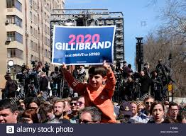 March 24, 2019 - New York, New York, U.S - Supporters of Kirsten Gillibrand  cheer for her as they await her arrival in New York City. (Credit Image: © Preston  Ehrler/ZUMA Wire Stock Photo - Alamy