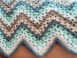 Double Crochet Ripple Afghan Pattern Beauteous VStitch Crochet Ripple Afghan Pattern Petals To Picots