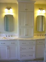 Double Vanity With Storage Tower