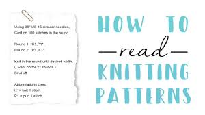 How To Read A Knitting Pattern Fascinating How To Read A Knitting Pattern YouTube