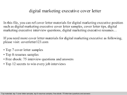 Executive Cover Letters Samples Digital Marketing Executive Cover Letter
