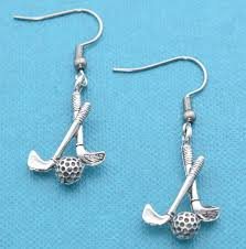 get ations golf club earrings in antique silver pewter golf earrings golf gifts golf women