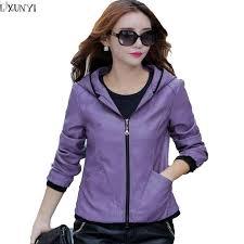 whole 2xl 3xl 4xl 5xl faux leather jacket women 2017 autumn casual jacket with hood korean thin popular plus size las leather coats leather jacket