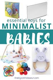 minimalist baby toy list summary remended age range 0 6 months