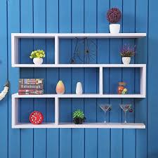wall mount s shaped floating shelves