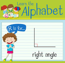 How To Right A Letter Best Flashcard Letter R Is For Right Angle Vector Premium Download