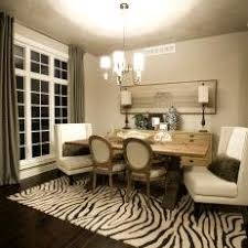 zebra area rug. Zebra Area Rug Grounds Transitional Dining Room
