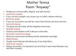 Mother Teresa Quotes Love Them Anyway Beauteous Mother Teresa Quotes Do It Anyway Meme And Quote Inspirations