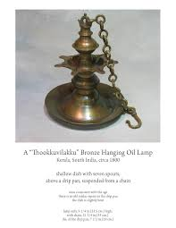 Thookkuvilakku Bronze Hanging Oil Lamp Kerala South India Circa 1800