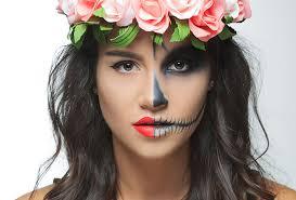 easy makeup skeleton woman