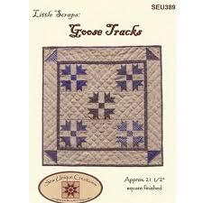 Little Scraps - Goose Tracks By Sew Unique Creations , Miniature ... & Little Scraps - Goose Tracks Quilt Pattern Adamdwight.com