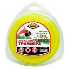 Купить <b>Леска для триммера DDE</b> Classic Line 2.4mm x 15m ...