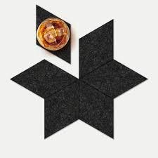 hexagon coaster set  mono  geometrico limited