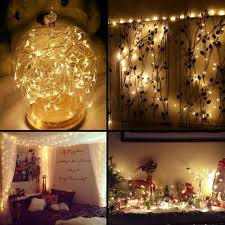 lighting string. 33ft Warm White Copper Wire LED String Lights For Christmas Decoration | LE® Lighting
