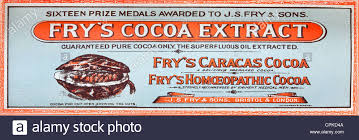 Vintage Food Labels Frys Cocoa Extract Vintage Food Label Stock Photo 48370570 Alamy
