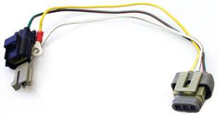 wiring harnesses plugs into alternator