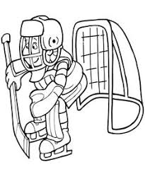 Small Picture Coloring Page of Hockey Goalie You Can Print Out This Hockey