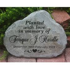engraved garden stones. A Custom Engraved Garden Memorial Stone Medium Personalized Km Stones G